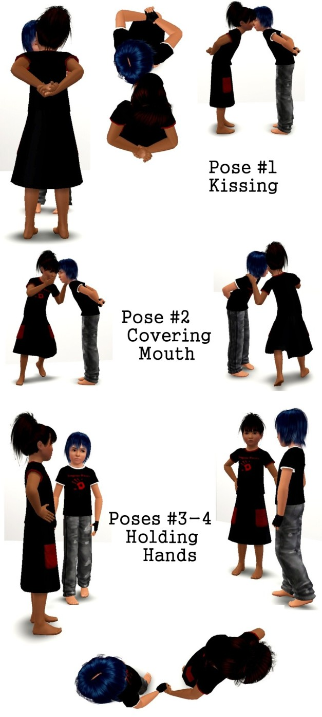 My Sims 3 Poses: Kid Love Pose Pack by ArtistKate
